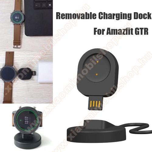 Xiaomi Amazfit GTR 47mmOkosóra töltő - USB mágneses töltő dokkoló, mini - Xiaomi Amazfit GTR 42mm (1909), Xiaomi Amazfit GTR 47mm (1901) - FEKETE