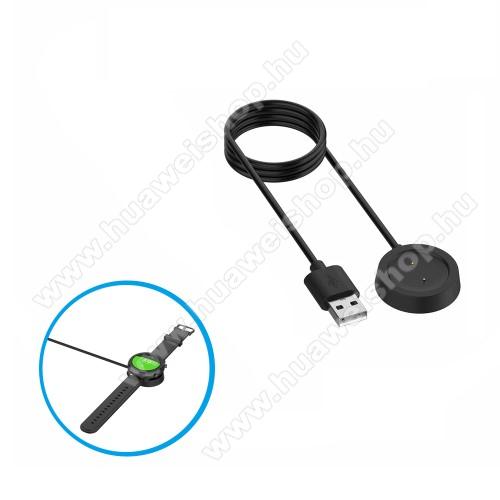 Okosóra töltő - USB mágneses töltő dokkoló, 1m - Xiaomi Amazfit GTR 42mm (1909), Xiaomi Amazfit GTR 47mm (1901) - FEKETE