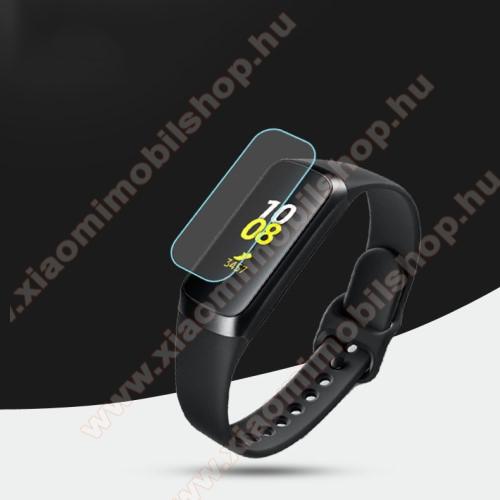 Okosóra TPU képernyővédő fólia - Clear - 1db, törlőkendővel - A TELJES ELŐLAPOT VÉDI! - SAMSUNG SM-R370 Galaxy Fit