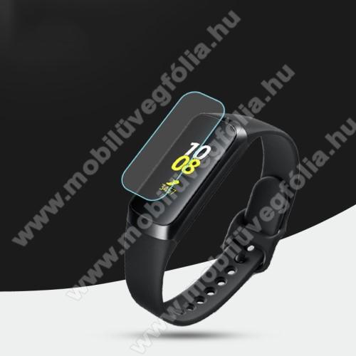 Okosóra TPU képernyővédő fólia - Clear - 1db, törlőkendővel - A TELJES ELŐLAPOT VÉDI! - SAMSUNG SM-R370 Galaxy Fit e