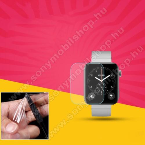 Okosóra TPU képernyővédő fólia - CLEAR - 1db, törlőkendővel - A TELJES ELŐLAPOT VÉDI! - Xiaomi Mi Watch (For China Market)