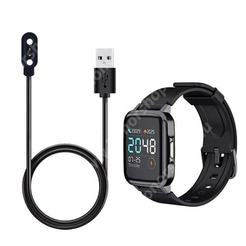 Okosóra USB töltő - 1m hosszú, 5V/0.5A, mágneses - FEKETE - Xiaomi Haylou Solar LS02 / Xiaomi Mibro Air