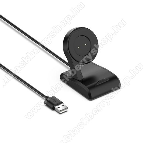 Okosóra USB töltő / dokkoló - FEKETE - 1m - Xiaomi Amazfit T-Rex / GTR 42mm / GTR 47mm / GTS