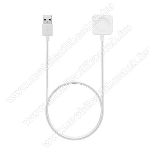 Okosóra USB töltő - FEHÉR - 1m, 5V/1A - Apple Watch 1/2/3 - 38mm / 42mm