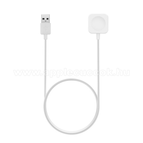 APPLE Watch Series 1 42mm Okosóra USB töltő - FEHÉR - 1m, 5V/1A - Apple Watch 1/2/3 - 38mm / 42mm