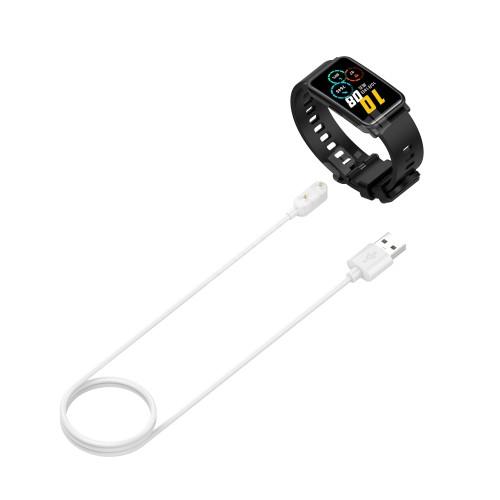 Okosóra USB töltő - FEHÉR - mágneses, 1m - Huawei Childrens Watch 4X / Watch Fit / Honor Watch ES / Honor Band 6