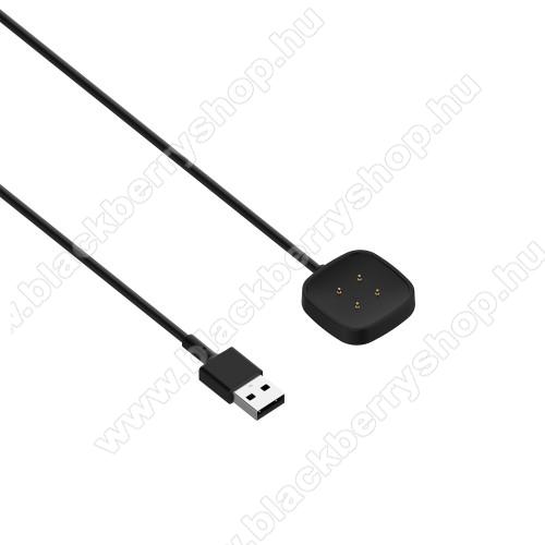 Okosóra USB töltő - FEKETE - 1m hosszú - Fitbit Versa 3 / Fitbit Sense