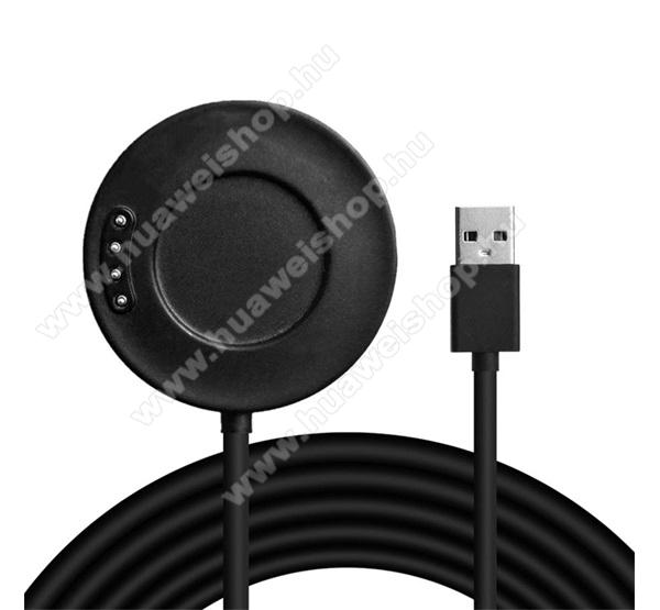 Okosóra USB töltő - FEKETE - 1m - Xiaomi Amazfit Stratos 3