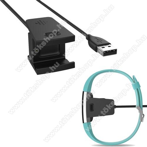 Okosóra USB töltő - FEKETE - 55cm - Fitbit Charge 2