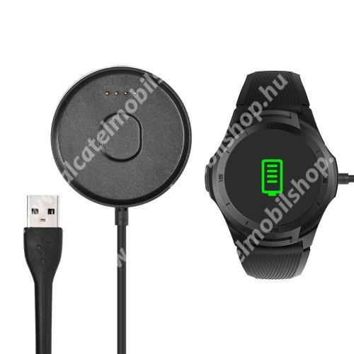 Okosóra USB töltő - FEKETE - 5V / 500MA, 1m hosszú - Mobvoi TicWatch S2 / Mobvoi TicWatch E2