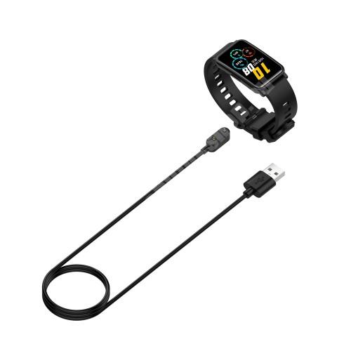Okosóra USB töltő - FEKETE - mágneses, 1m - Huawei Childrens Watch 4X / Watch Fit / Honor Watch ES / Honor Band 6