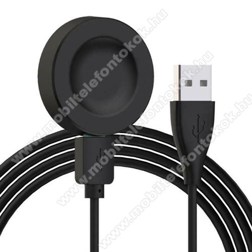 Okosóra USB töltő - FEKETE - mágneses, QI wireless, 5V / 0,5A, Type-C - HUAWEI Watch GT 2 Pro 46mm