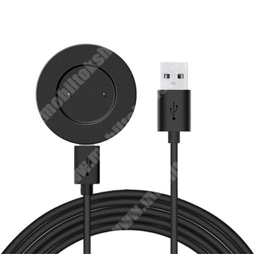 Okosóra USB töltő - FEKETE - mágneses, TYPE-C bemenet, 5V/1A - HUAWEI Watch GT / HUAWEI Watch Magic