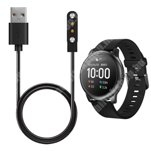 Okosóra USB töltő - mágneses, 1m hosszú - FEKETE - Xiaomi Haylou Solar LS05