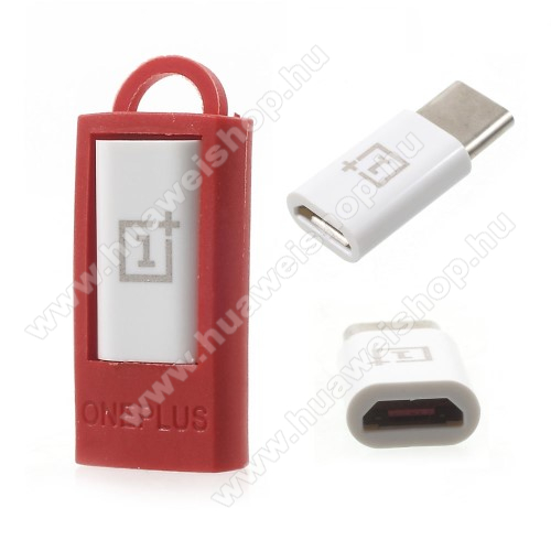 HUAWEI Honor Magic Oneplus adapter microUSB 2.0-át USB 3.1 Type C-re alakítja - FEHÉR - GYÁRI