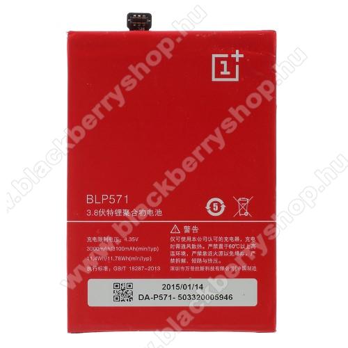 OnePlus One A0001 akkumulátor - 3000mAh Li-Polymer - BLP571 - GYÁRI