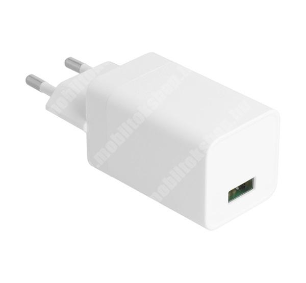 PRESTIGIO MultiPad 8.0 PRO DUO OPPO hálózati töltő USB aljzat - 18W, 5V / 2000 mA, gyorstöltés támogatás, KÁBEL NÉLKÜL! - FEHÉR - AK779GB - GYÁRI