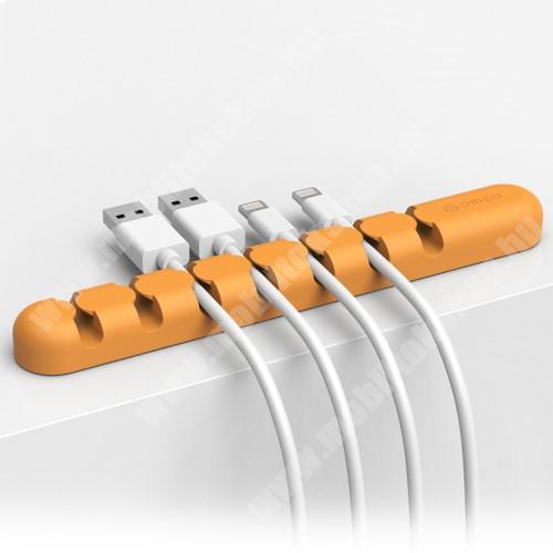 HomTom HT70 ORICO CBS7 kábel szervező, kötegelő, 1db-os - NARANCS - 15 x 2 x 1.2cm - GYÁRI