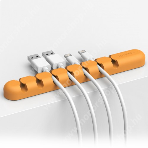 HUAWEI Honor V40 5G ORICO CBS7 kábel szervező, kötegelő, 1db-os - NARANCS - 15 x 2 x 1.2cm - GYÁRI