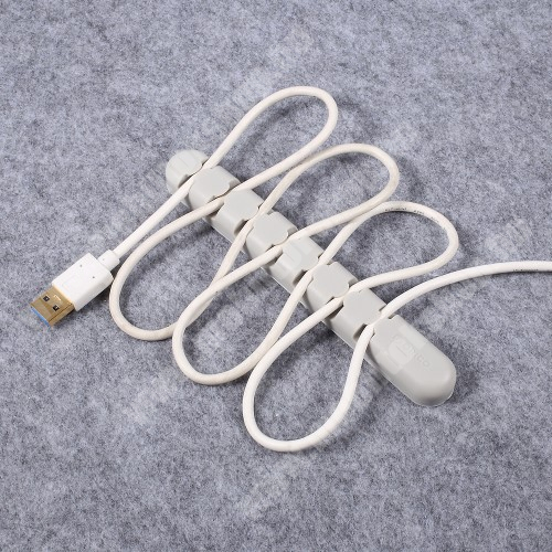 PHILIPS W8510 ORICO CBS7 kábel szervező, kötegelő, 1db-os - SZÜRKE - 15 x 2 x 1.2cm - GYÁRI