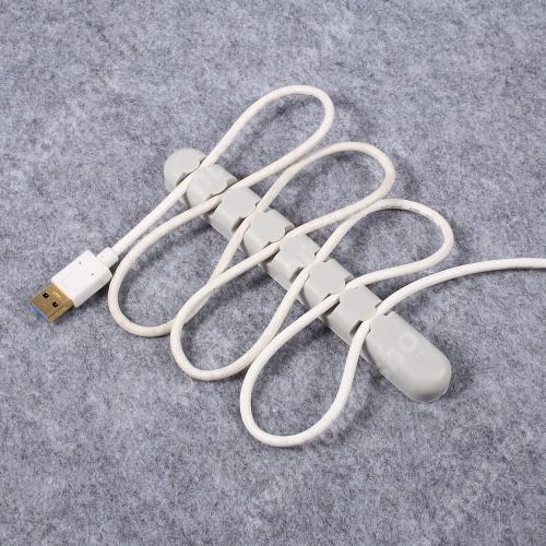 HUAWEI Honor V40 5G ORICO CBS7 kábel szervező, kötegelő, 1db-os - SZÜRKE - 15 x 2 x 1.2cm - GYÁRI