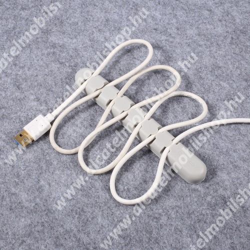 ORICO CBS7 kábel szervező, kötegelő, 1db-os - SZÜRKE - 15 x 2 x 1.2cm - GYÁRI