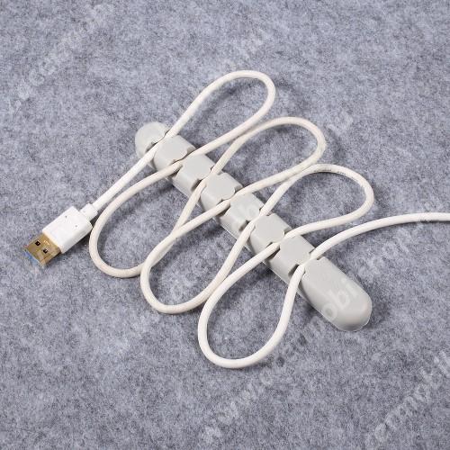 ACER Liquid Z3 ORICO CBS7 kábel szervező, kötegelő, 1db-os - SZÜRKE - 15 x 2 x 1.2cm - GYÁRI