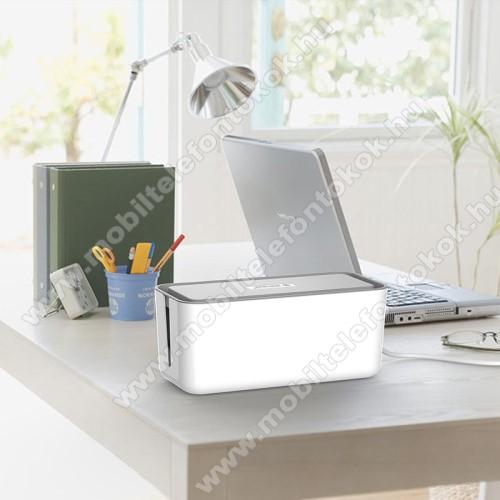ORICO CMB-18-WH asztali telefon tartó, kábel szervező doboz - Tűzálló ABS anyagokból készül, üreges kivitel, hatékony hőelvezetés - FEHÉR - 310 x 138 x 130mm - CMB-18-WH - GYÁRI