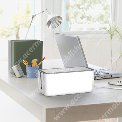 ACER Liquid Z3 ORICO CMB-18-WH asztali telefon tartó, kábel szervező doboz - Tűzálló ABS anyagokból készül, üreges kivitel, hatékony hőelvezetés - FEHÉR - 310 x 138 x 130mm - CMB-18-WH - GYÁRI