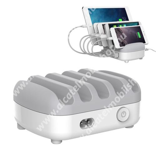 ORICO EU hálózati töltő állomás - 5 x USB aljzat 5V / max 2,4A 40W (max), túlfeszültség védelem, tűzálló anyag - FEHÉR