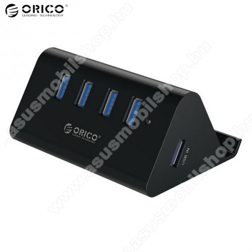 ASUS Memo Pad 7 ME572CORICO SHC-U3, 4 portos USB hub / elosztó - USB 3.0, 100cm USB kábellel, asztali tartó funkció - FEKETE