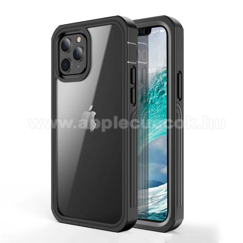 OTT! 360° Shockproof műanyag védő tok / hátlap - FEKETE - szilikon betétes, 360°-os védelem, PET műanyag előlap védő, 2 rétegből áll, ERŐS VÉDELEM! - APPLE iPhone 12 mini