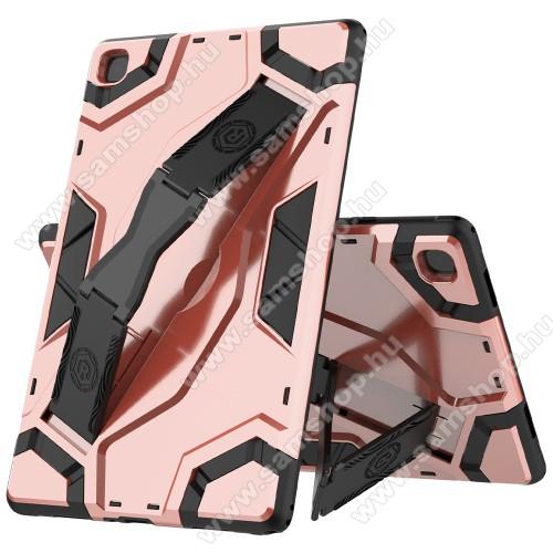 OTT! ARMOR TAB SHELL műanyag védő tok / hátlap - RÓZSASZÍN - szilikon betétes, asztali tartó funkciós, csukópánt, ERŐS VÉDELEM! - SAMSUNG Galaxy Tab A7 10.4 (2020) (SM-T500/SM-T505)