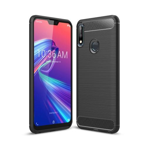 OTT! CARBON szilikon védő tok / hátlap - FEKETE - karbon mintás, ERŐS VÉDELEM! - ASUS Zenfone Max Pro (M2) (ZB631KL) / ASUS Zenfone Max Pro (M2) (ZB630KL)