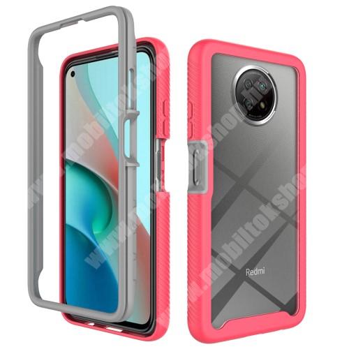 OTT! FULL DEFENDER műanyag védő tok / átlátszó hátlap - MAGENTA - két rétegből áll, szilikon belső, erősített sarkok, ERŐS VÉDELEM! - Xiaomi Redmi Note 9T 5G / Redmi Note 9 5G