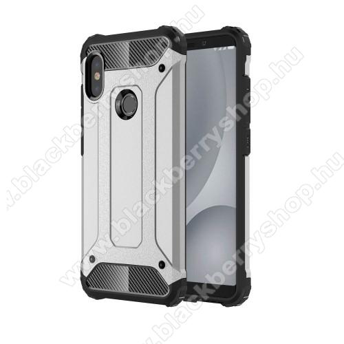 OTT! MAX DEFENDER műanyag védő tok / hátlap - EZÜST - szilikon belső, ERŐS VÉDELEM! - Xiaomi Redmi Note 5 Pro (Global version)