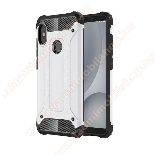 OTT! MAX DEFENDER műanyag védő tok / hátlap - FEHÉR - szilikon belső, ERŐS VÉDELEM! - Xiaomi Redmi Note 5 Pro (Global version) / Xiaomi Redmi Note 5 (Global version)