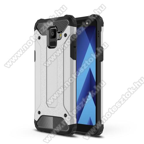 OTT! MAX DEFENDER műanyag védő tok / hátlap - EZÜST - szilikon belső, ERŐS VÉDELEM! - SAMSUNG SM-A600F Galaxy A6 (2018)