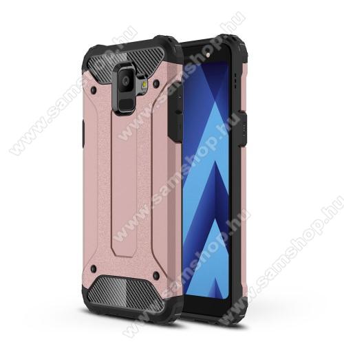 OTT! MAX DEFENDER műanyag védő tok / hátlap - ROSE GOLD - szilikon belső, ERŐS VÉDELEM! - SAMSUNG SM-A600F Galaxy A6 (2018)