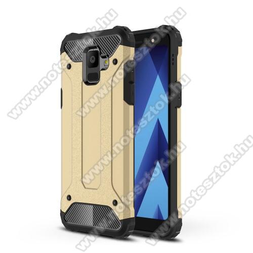 OTT! MAX DEFENDER műanyag védő tok / hátlap - ARANY - szilikon belső, ERŐS VÉDELEM! - SAMSUNG SM-A600F Galaxy A6 (2018)