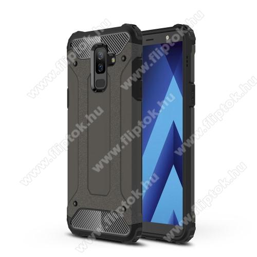 OTT! MAX DEFENDER műanyag védő tok / hátlap - BRONZ - szilikon belső, ERŐS VÉDELEM! - SAMSUNG SM-A605G Galaxy A6 Plus (2018)