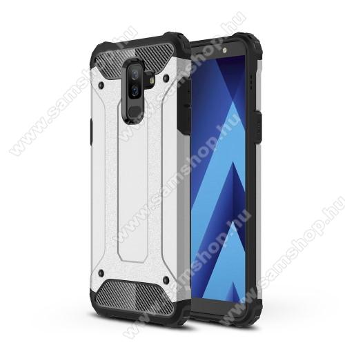 OTT! MAX DEFENDER műanyag védő tok / hátlap - EZÜST - szilikon belső, ERŐS VÉDELEM! - SAMSUNG SM-A605G Galaxy A6 Plus (2018)