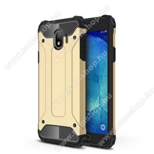 OTT! MAX DEFENDER műanyag védő tok / hátlap - ARANY - szilikon belső, ERŐS VÉDELEM! - SAMSUNG SM-J400F Galaxy J4 (2018)