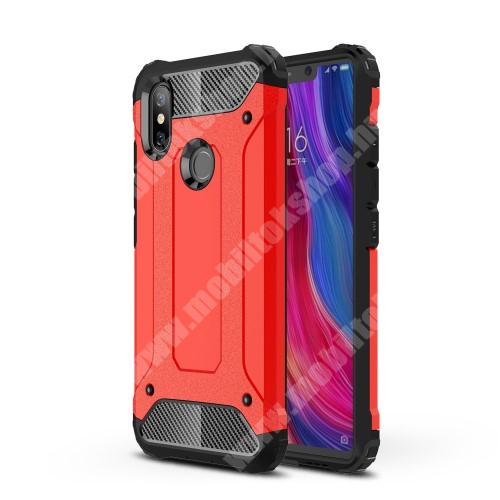 OTT! MAX DEFENDER műanyag védő tok / hátlap - PIROS - szilikon belső, ERŐS VÉDELEM! - Xiaomi Mi 8 SE