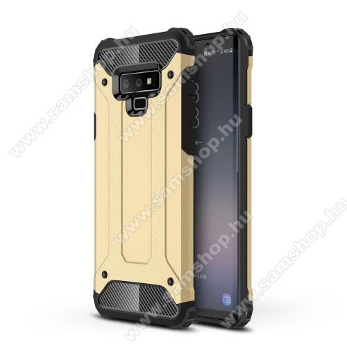 OTT! MAX DEFENDER műanyag védő tok / hátlap - ARANY - szilikon belső, ERŐS VÉDELEM! - SAMSUNG Galaxy Note9