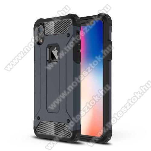 OTT! MAX DEFENDER műanyag védő tok / hátlap - SÖTÉTKÉK - szilikon belső, ERŐS VÉDELEM! - APPLE iPhone Xr