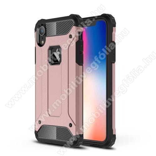 OTT! MAX DEFENDER műanyag védő tok / hátlap - ROSE GOLD - szilikon belső, ERŐS VÉDELEM! - APPLE iPhone Xr