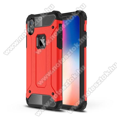 OTT! MAX DEFENDER műanyag védő tok / hátlap - PIROS - szilikon belső, ERŐS VÉDELEM! - APPLE iPhone Xr