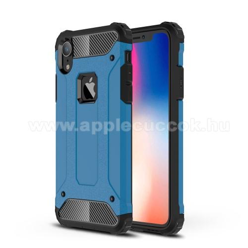 OTT! MAX DEFENDER műanyag védő tok / hátlap - VILÁGOSKÉK - szilikon belső, ERŐS VÉDELEM! - APPLE iPhone Xr