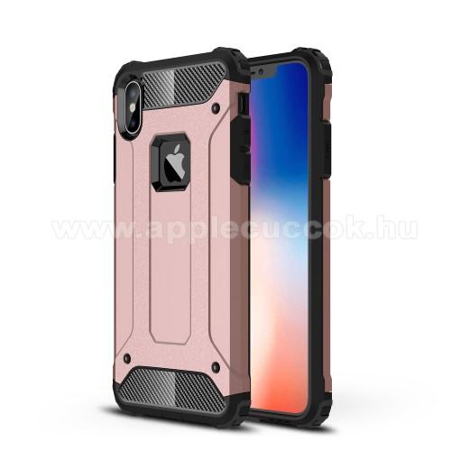 OTT! MAX DEFENDER műanyag védő tok / hátlap - ROSE GOLD - szilikon belső, ERŐS VÉDELEM! - APPLE iPhone XS Max